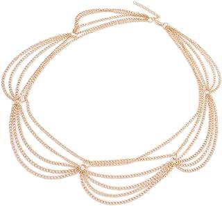 Bullidea houppe Fantasy Woman Fashion Chain Headband Hair Band Head Chain Hair Band Accessories Beautiful Decor Edge Clip Headwear Bridal Jewelry Gift of Love