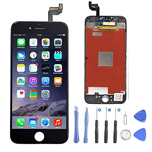 FoxSay Compatible pour /Écran iPhone 6s Plus Blanc 5.5 LCD Display Assembl/ée Remplacement Complet Kit de R/éparation avec Outils