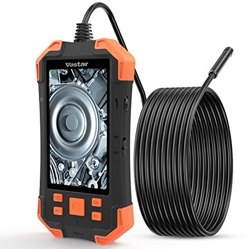 Industrial Endoscope, Vastar Inspection Camera - 1080P HD 4.3inch LCD Screen IP67 Waterproof Borescope, 3000mAh Rechargeable Battery Video Inspection Camera with 6 Adjustable LED Lights