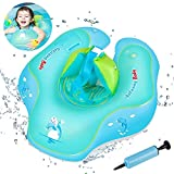 Infreecs Baby schwimmring mit schwimmsitz, Baby Schwimmen Ring Baby Schwimmhilfe Kinder Aufblasbare Schwimmer Baby Schwimmtrainer f¨¹r Kinder von 3 bis 12 Monaten, S