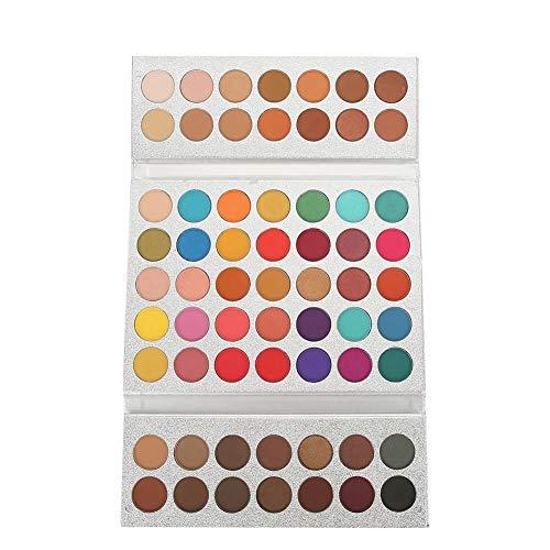 HaiQianXin Beauty Glazed 63 Colors Pearlescent Matte Eyeshadow Eye Cosmetics Makeup Palette