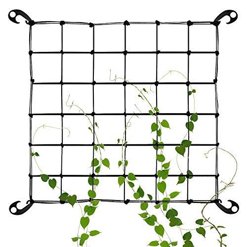 GOLRISEN Universal Schutznetz mit 4 Haken, Ranknetz für Blume Gurken Tomatend Pflanzen Clematis, Schwarz
