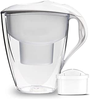 SYJYA Ideal Water Filter Jug with 1 Replacement Cartridge - 3 Liters- Water Purifier - BPA-Free - NSF Certified - Cost Eff...