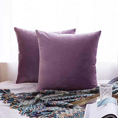 Miwaimao 26Colors almohada buque terciopelo funda de asiento de la sala de estar sofá almohadilla conjunto de color sólido funda de almohada almohada almohada car-450mm*450mm, 15