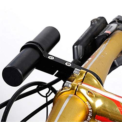 WSWJJXB 10cm Bicycle Handlebar Extender Mountain MTB Bike Cycling Bracket Lamp Holder Outdoor Cycle Biking Entertainment (Color : Black)