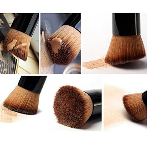 aloiness Pinceaux de Maquillage Synthétique, 8Pcs Cosmétique Fondation Maquillage Set de brosse Cosmétique Brush Ombre à Paupière Blush