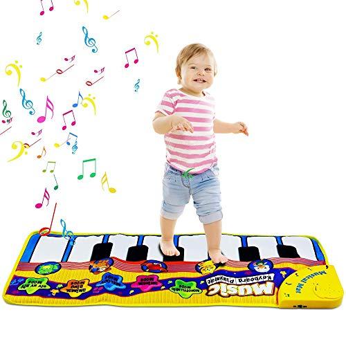 Hoodie Klaviermatte, Sound-Play, Tanzmatten für Kinder, Funktionstasten, Musik-Matte, geräuschloses Spielzeug, Bodenklaviermatte für Kinder, Jungen und Mädchen, Geschenk