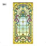 Pellicola per vetri colorati Chiesa glassata Pellicola elettrostatica per pellicole per vetri autoadesivo per porte in PVC Pellicole decorative per finestre autoadesive personalizzate, B-84 40x60cm