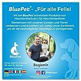 Bluepet Hundebürste / Unterfellbürste – Antiallergisch, befreie deinen Liebling von Unterwolle – Innovatives Design – Entfilzen und Trimmen zugleich für optimale Fellpflege - 7