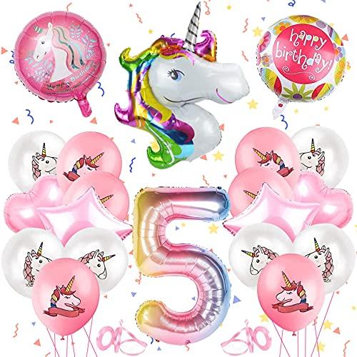 Unicornio decoración de cumpleaños, fiesta de unicornio para niñas, globos de unicornio, globos de papel, globos para fiestas de cumpleaños infantiles, globos para decoración de cumpleaños (5)