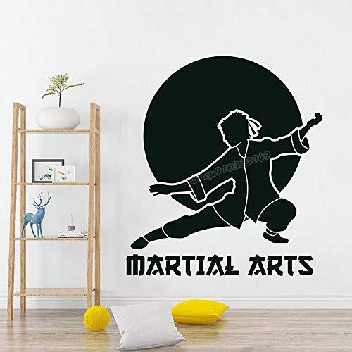 Artes marciales Karate Deportes Karate Vinilo Sala de estar Gimnasio Etiqueta de la pared educativa