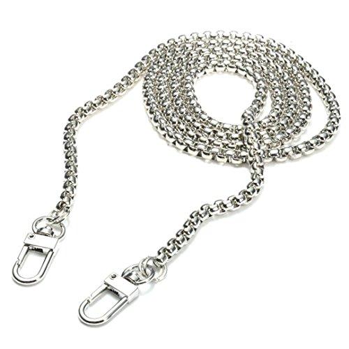 120cm Kette Metallersatz Gurt für Damen Handtasche Tasche (Silber)