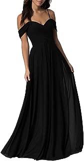 Chiffon Off Shoulder Bridesmaid Dresses Women Long Wedding Evening Gown