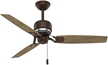 Casablanca Indoor Ceiling Fan, with pull chain control - Tribeca 52 inch, Industrial Rust, 59499