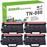 Aztech Compatible Toner Cartridge Replacement for Brother TN880 TN-880 TN 880 HL-L6200DW MFC-L6700DW MFC-L6900DW MFC-L6800DW HL-L6200DWT HL-L6250DW HL-L6300DW HL-L6400DW L6200DW (Black, 4-Pack)
