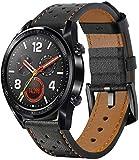 SPGUARD Cinturini Compatibile con Cinturino Huawei Watch GT 2 46mm Cinturino Huawei Watch GT 2e,22mm Cinturino di Ricambio in Pelle per Huawei GT 2 46mm/GT 2e/GT/Active-Nero