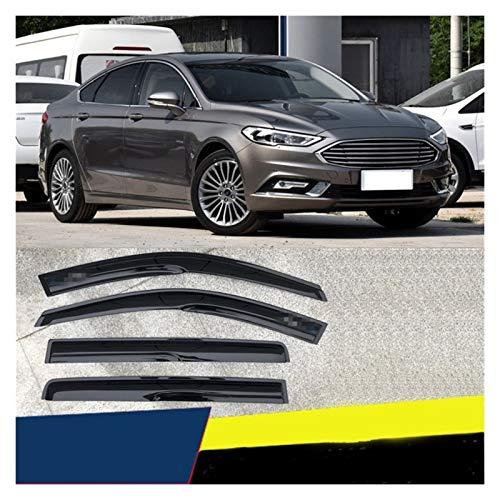 CGDD Windabweiser Für Ford Mondeo 2013-2018 Kunststofffenster Visier-Entlüftungsschirme Sun Rain Deflector Guard Auto Markise Autofenster Visier