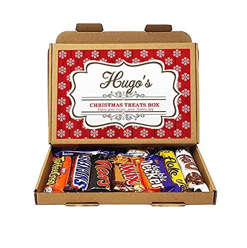 Personalised Christmas Selection Treats Sweets Gift Box Kids Hamper Stocking Children Present Lockdown 2021 (Chocolate Xmas D1)
