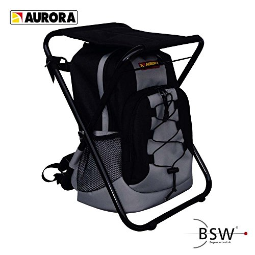 AURORA Outdoor Backpack - Rucksack mit Hocker - schwarz