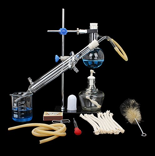 100ml Home Distiller Alcohol Distiller Essential Oil Extraction Chemical Experiment Equipment to Making Your Own Moonshine Oil Experiment Equipment Lab Glassware Kit