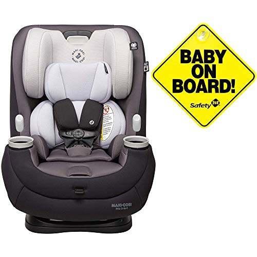Best Price Maxi-Cosi Pria 3-in-1 Convertible Car Seat - Blackened Pearl with Baby on Board Sign