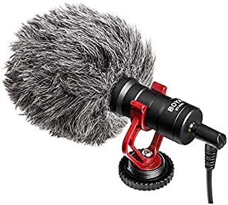 BOYA BY-MM1 Video Microphone Youtube Vlogging Facebook Livestream Recording Shotgun Mic for Smartphone/Cameras