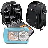 DURAGADGET Mochila para Cámara compacta Polaroid IF045   Sony DSC-W810   Fujifilm XP90   Canon PowerShot SX620 HS Resistente Al Agua + Funda Impermeable