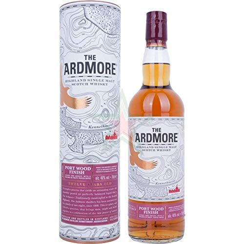 The Ardmore 12 Years Old Highland Single Malt Scotch Whisky PORT WOOD FINISH 46,00% 0,70 Liter