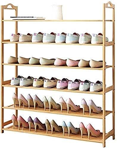 QZMX Estante de Zapatos Zapatero Zapatero Zapato de Madera Bastidores 3 6 Niveles de Almacenamiento Organizador Vertical de estanterías for Corredor Habitación Sala Puede sostener Estante