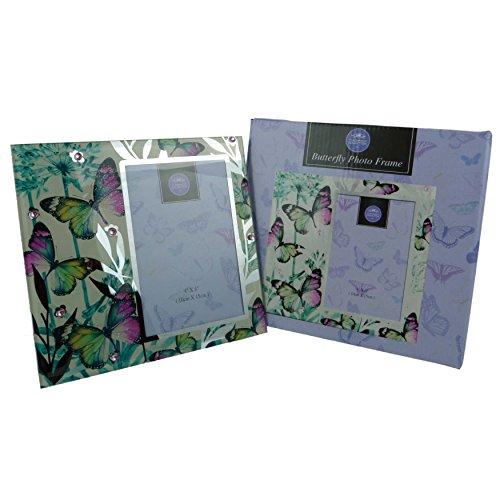 Leonardo coloré Papillon Miroir Cadre Photo 2 Tailles Boîte Cadeau Maman Nan, Multicolore, 6x4