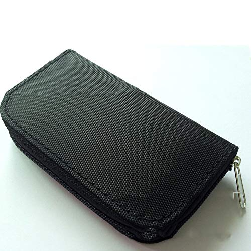 Fliyeong Tragen Kartenhalter Reißverschluss Multifunktionale Geldbörse Speicherkarte Pack SD-Karte Aufbewahrungstasche Tasche für Unisex-Frauen Damen und Herrenschwarz Praktisch