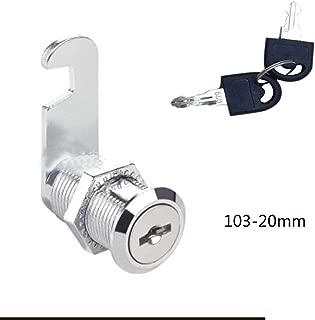 Bombin De Seguridad 1Set 16/20/25/30Mm Mailbox Locks Drawer Cupboard LockKeys High Quality Tubular Cam Cylinder Locks For Safebox Or Files-103-20Mm