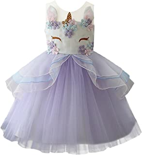 Baby Girls Flower Mythical Costume Cosplay Princess Dress up Birthday Pageant Party Dance Outfits Evening Gowns