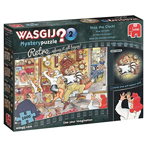 Jumbo 19154 Wasgij Mystery Retro 2 Stop The Clock 1000 Piece Jigsaw Puzzle