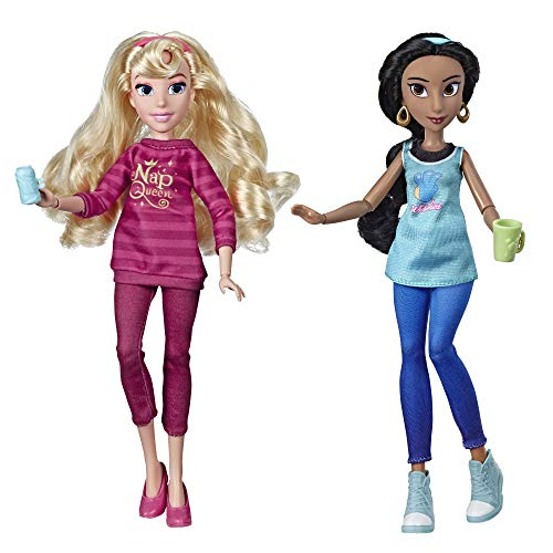 Disney Princess Ralph Breaks The Internet Movie Dolls, Jasmine & Aurora Dolls with Comfy Clothes & Accessories