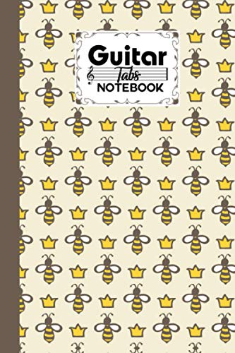Guitar Tab Notebook: Premium Queen Bee Cover Guitar Tab Notebook, Music Paper Notebook, Blank Guitar Tablature Music Note, 120 Pages - Size 6' x 9'