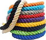 Ravenox Natural Twisted Cotton Rope | (Aqua)(1/2 Inch x 10 Feet) | Made in The USA | Strong Triple-Strand Rope for Sports, Décor, Pet Toys, Crafts, Macramé & Indoor Outdoor Use