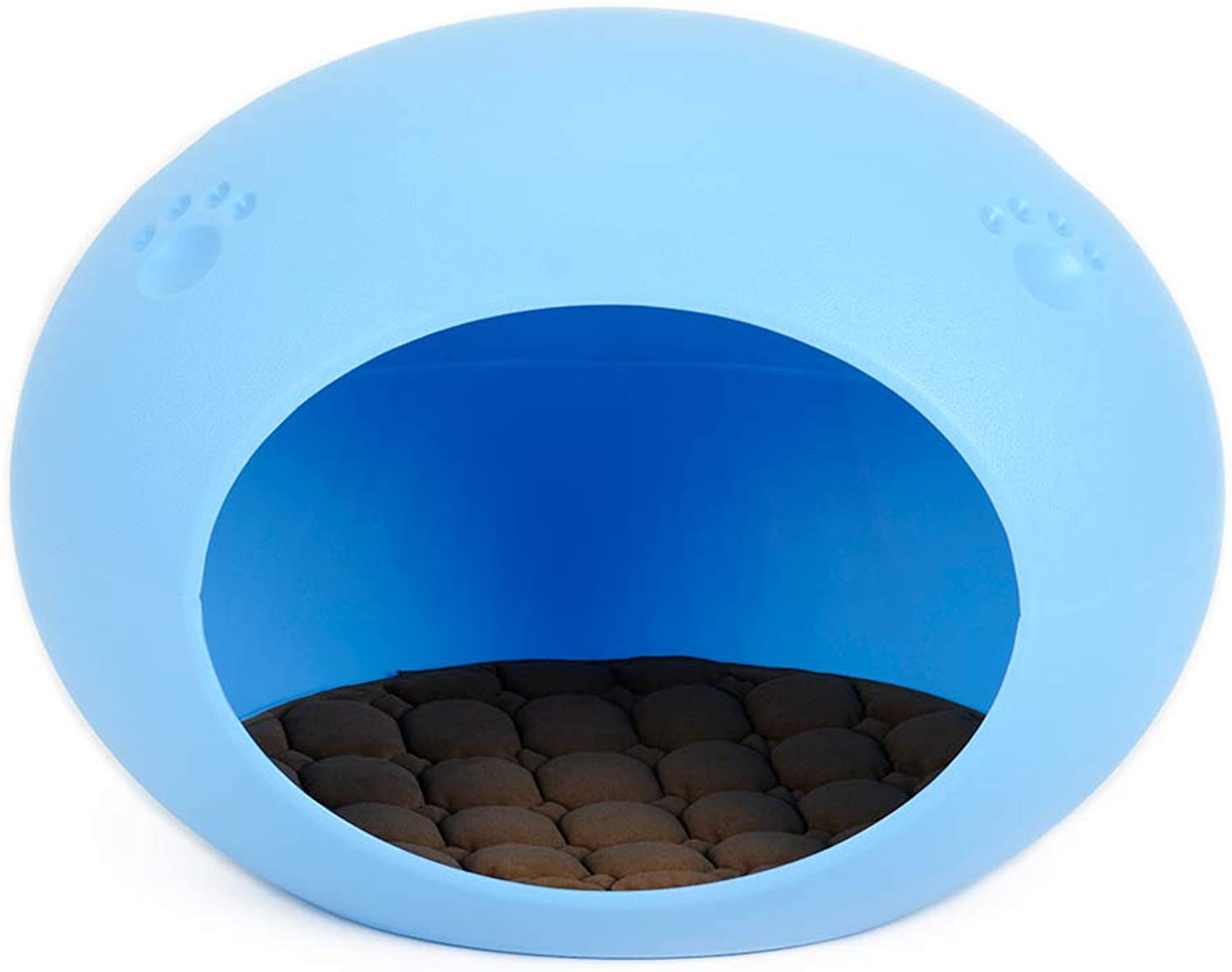 CHEN. Pet bedoval egg bed cat house cat tent cat house cat bed four seasons universal pet supplies,bluee,S