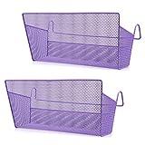 SUMNACON 2 cestas de almacenamiento para colgar en la mesita de noche, para dormitorio, cama, organizador de escritorio, para casa, oficina, escuela, dormitorio, litera (morado)
