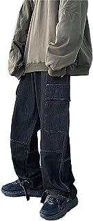 Godoboo Jeans da Uomo Casual Jeans Patchwork da Uomo Pantaloni in Denim da Hip-Hop Abbigliamento di Strada Pantaloni con G...