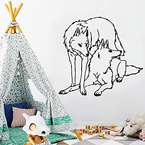 Cabeza de decoración del hogar de habitación de vinilo impermeable de lobo de dibujos animados