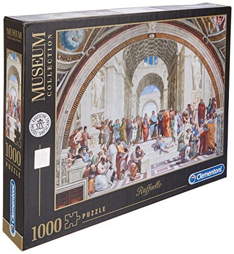 Clementoni Puzzle 1000 Piezas Museos La Escuela de Atenas, Multicolor (39483.8)