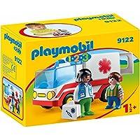 PLAYMOBIL 1.2.3- Ambulancia, única (9122)