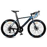 Bicicleta de carreras 700c, bicicleta de carreras con Shimano A070, 14 velocidades, rueda de 26 pulgadas, para hombre y mujer, color azul, tamaño 48 cm, tamaño de rueda 26.0
