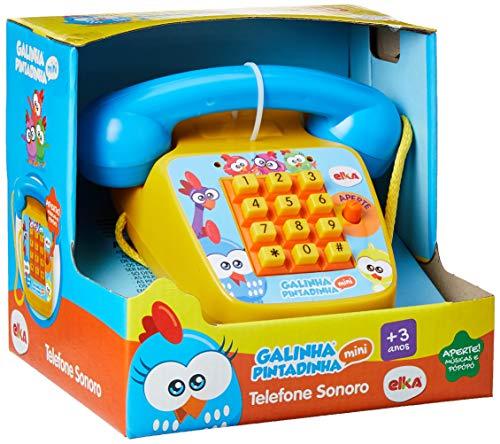 Telefone Sonoro - Galinha Pintadinha Mini, Elka, Amarelo/Azul