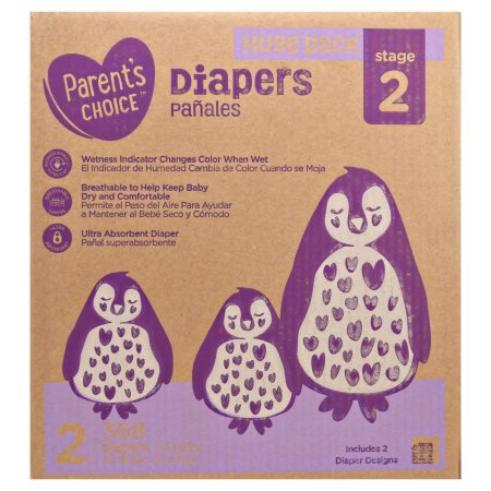 Parent's Choice Ultra Absorbent Diapers, Size 2, 368 Diapers (Mega Box)