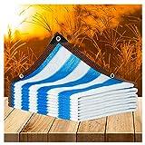 ZENGAI Vela Parasol de enfriamiento al Aire Libre, protección Solar Multiusos Anti-Ultravioleta 90%, toldo de Flores y Plantas suculentas, Personalizable (Color : Multi-Colored, Size : 3mx6m)
