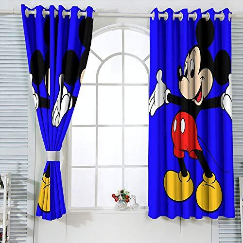 Cortinas con aislamiento térmico Mic-key Min-nie Mouse Cortinas para habitaciones infantiles, aislamiento térmico, cortina opaca de 63 x 72 pulgadas