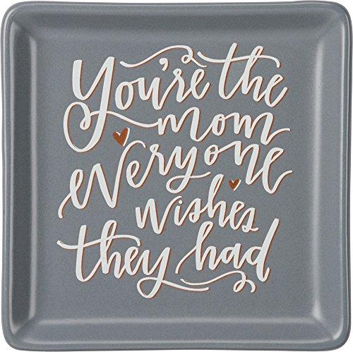 Primitives by Kathy Bilderrahmen Tablett 4.25 x 4.25-Inches Du bist die Mutter.