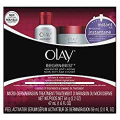 Two-step microderm system instantly resurfaces and softens skin in one use Microdermabrasion Treatment exfoliates to remove dull and dry skin Peel Activator Treatment resurfaces to reveal brighter, softer skin Instantly diminishes the appearance of f...